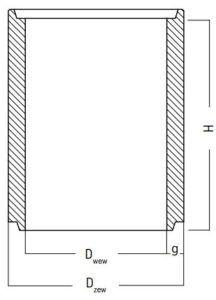 krag wpustu studni betonowej rysunek techniczny