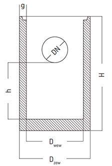 podstawa wpustu studni betonowej z otworem