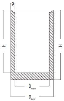 podstawa wpustu studni betonowej bez otworu