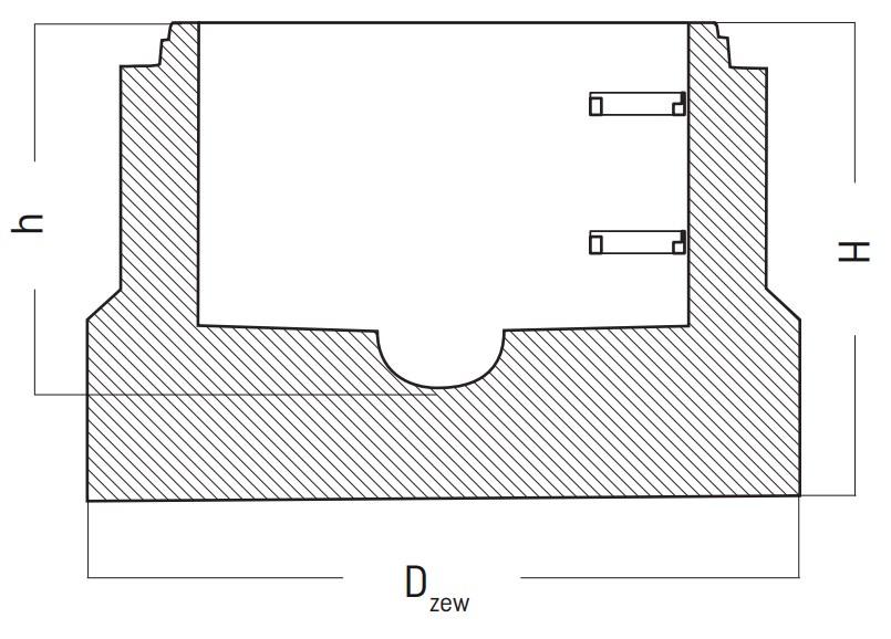 Podstawa studni betonowej DN 600