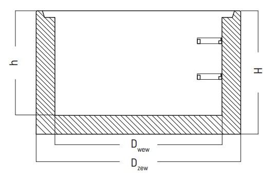 Podstawa studni betonowej DF | DFK rysunek