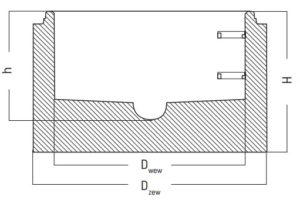 Podstawa studni betonowej DU | DUK rysunek