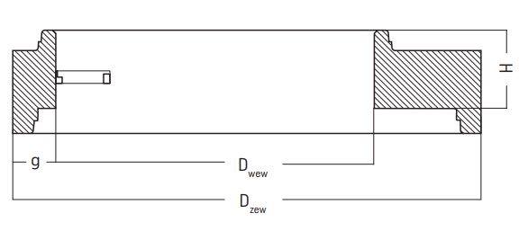 płyty redukcyjne pru studni kanalizacyjnych rysunek