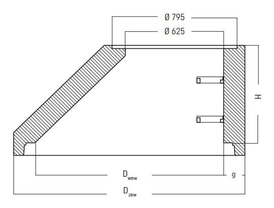 zwężki redukcyjne zu studni kanalizacyjnych rysunek techniczny